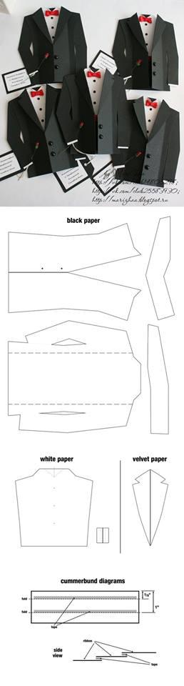 tuxedo template printables templates patterns paperdolls