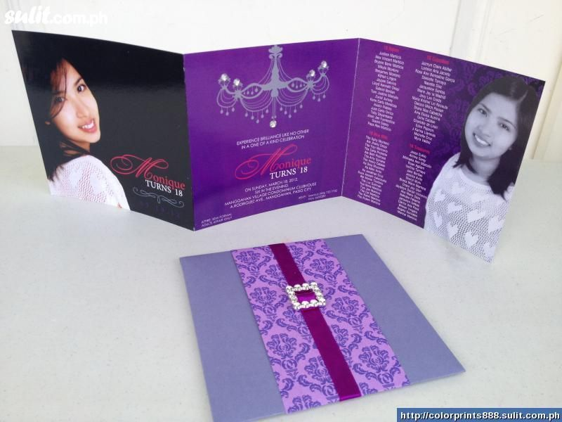 18th Birthday Card Girl Debut Invitation 18th Debut Invitation Invitation Card Printing