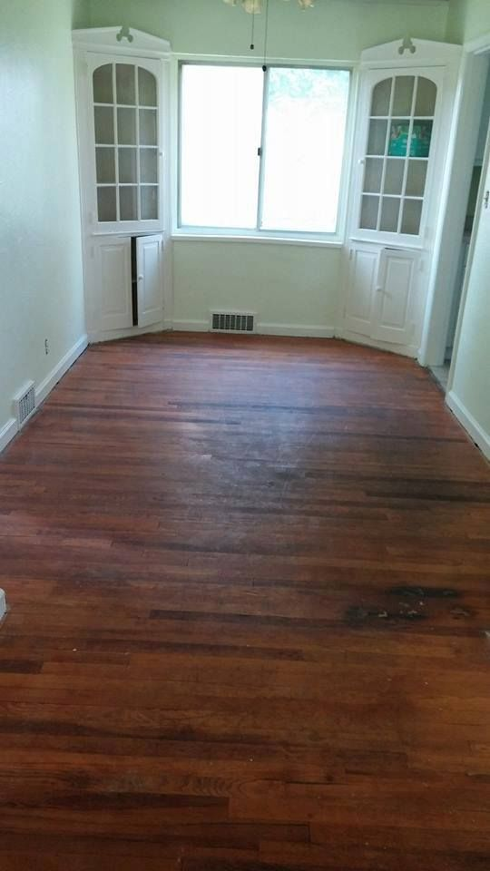 Before Picture Of Dining Room With Red Oak Hardwood Floors