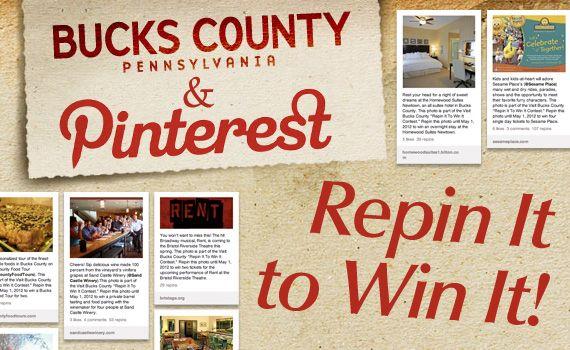 "Geekadelphia.com highlights Visit Bucks County's ""Repin It To Win It"" Pinterest contest."