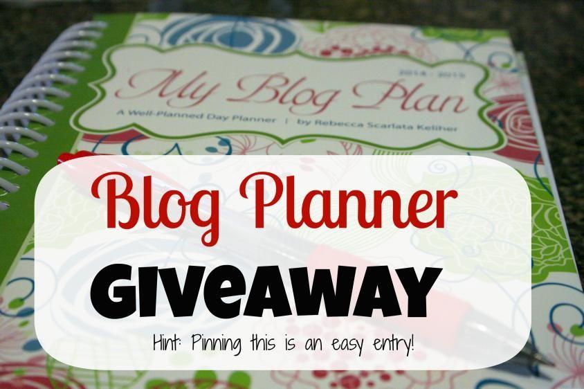 A blog planner giveaway!