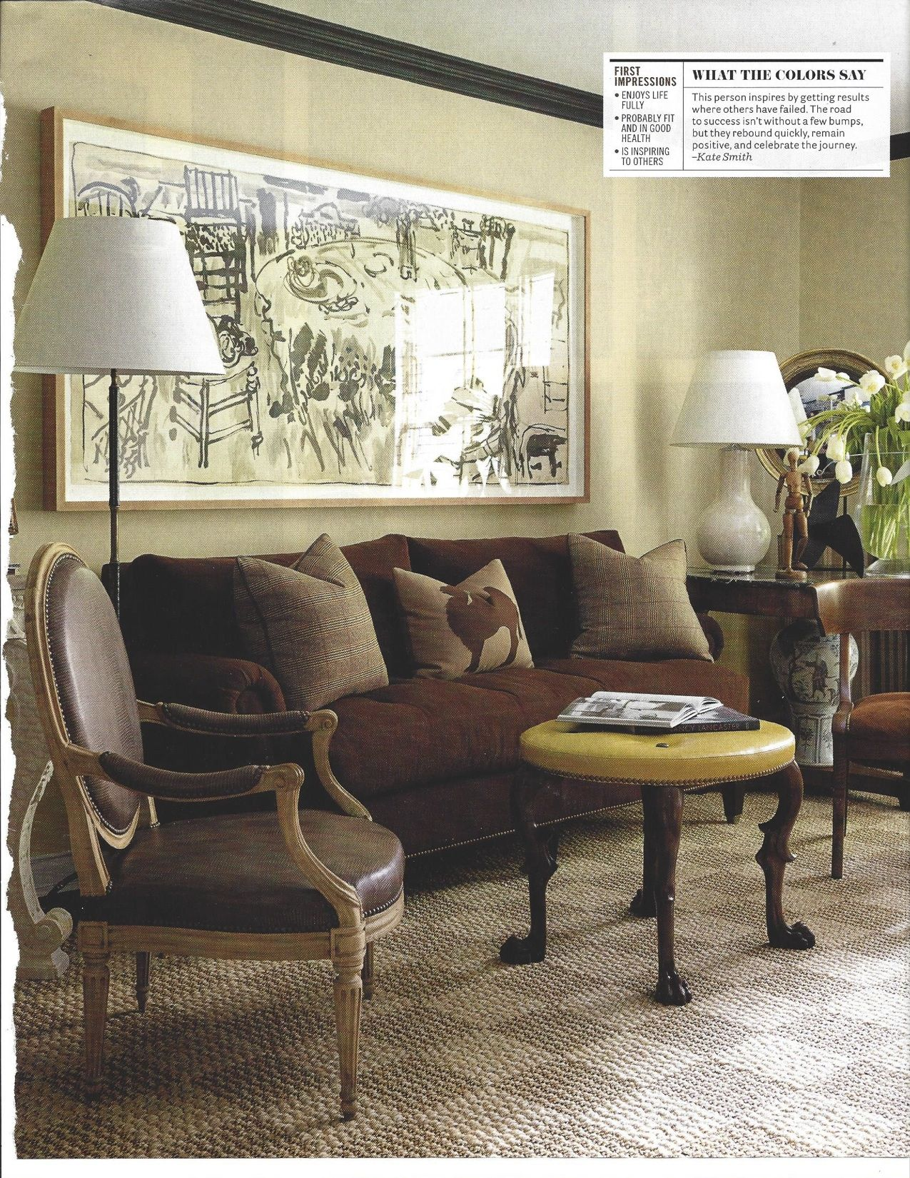 What colors say in a living room | Elle decor living room ...
