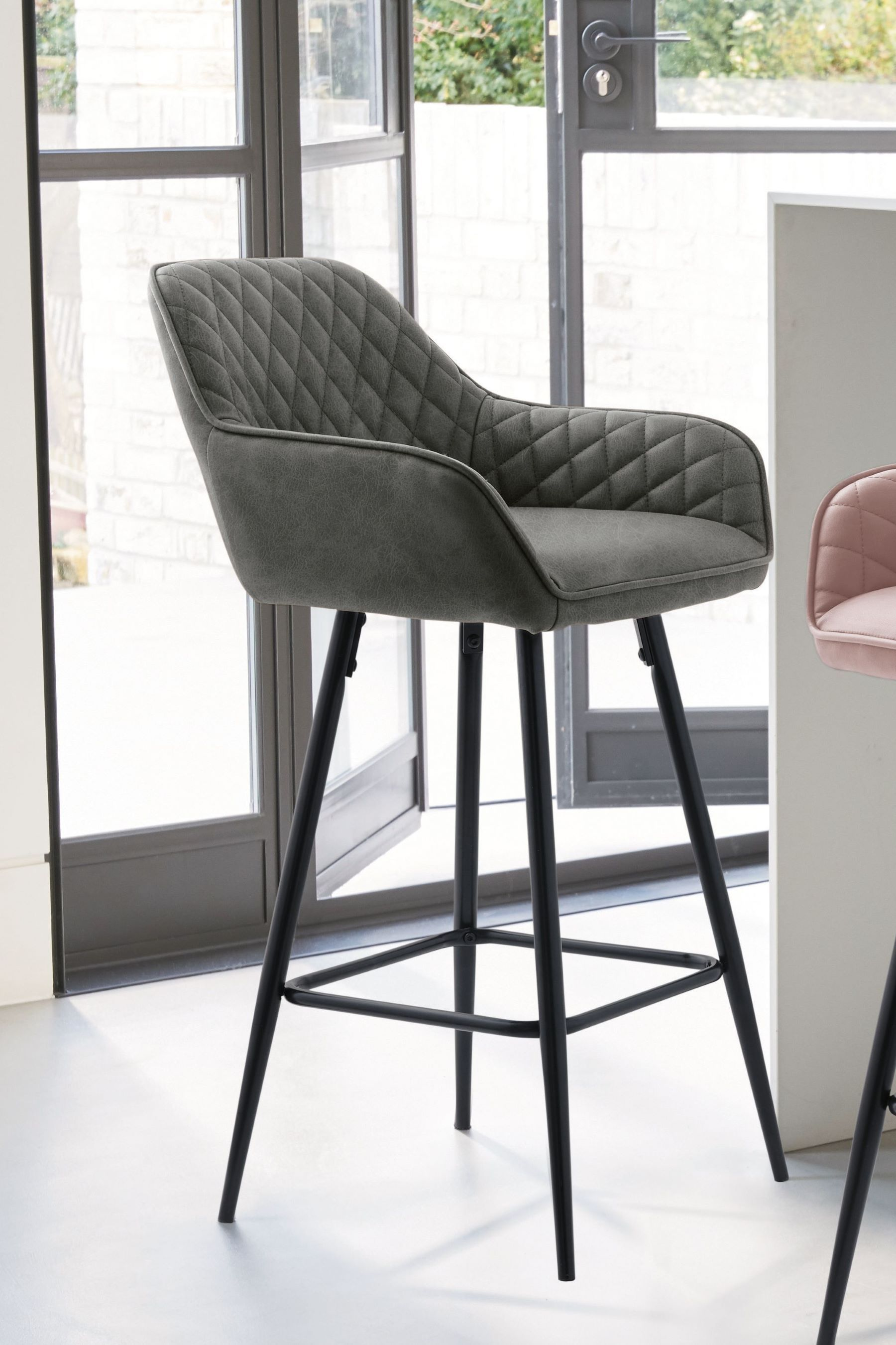 Next Hamilton Bar Stool Grey Bar Stools Fabric Dining Chairs