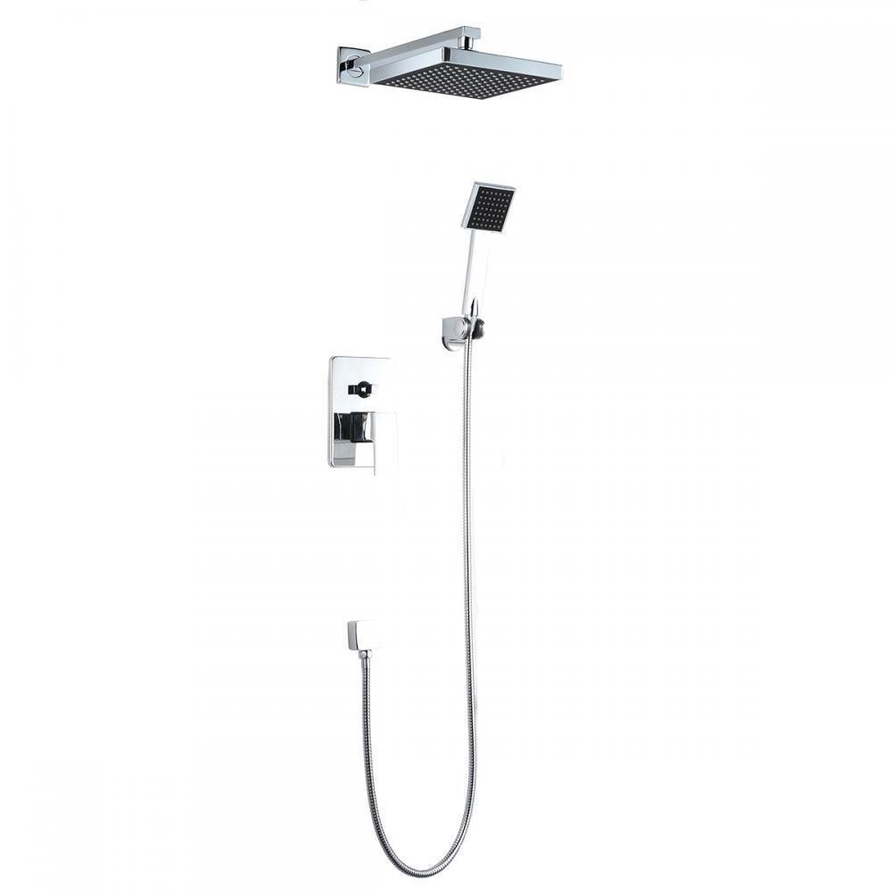 Bathroom Shower Head Arm Control Valve Hand Spray Rain Shower Faucet ...
