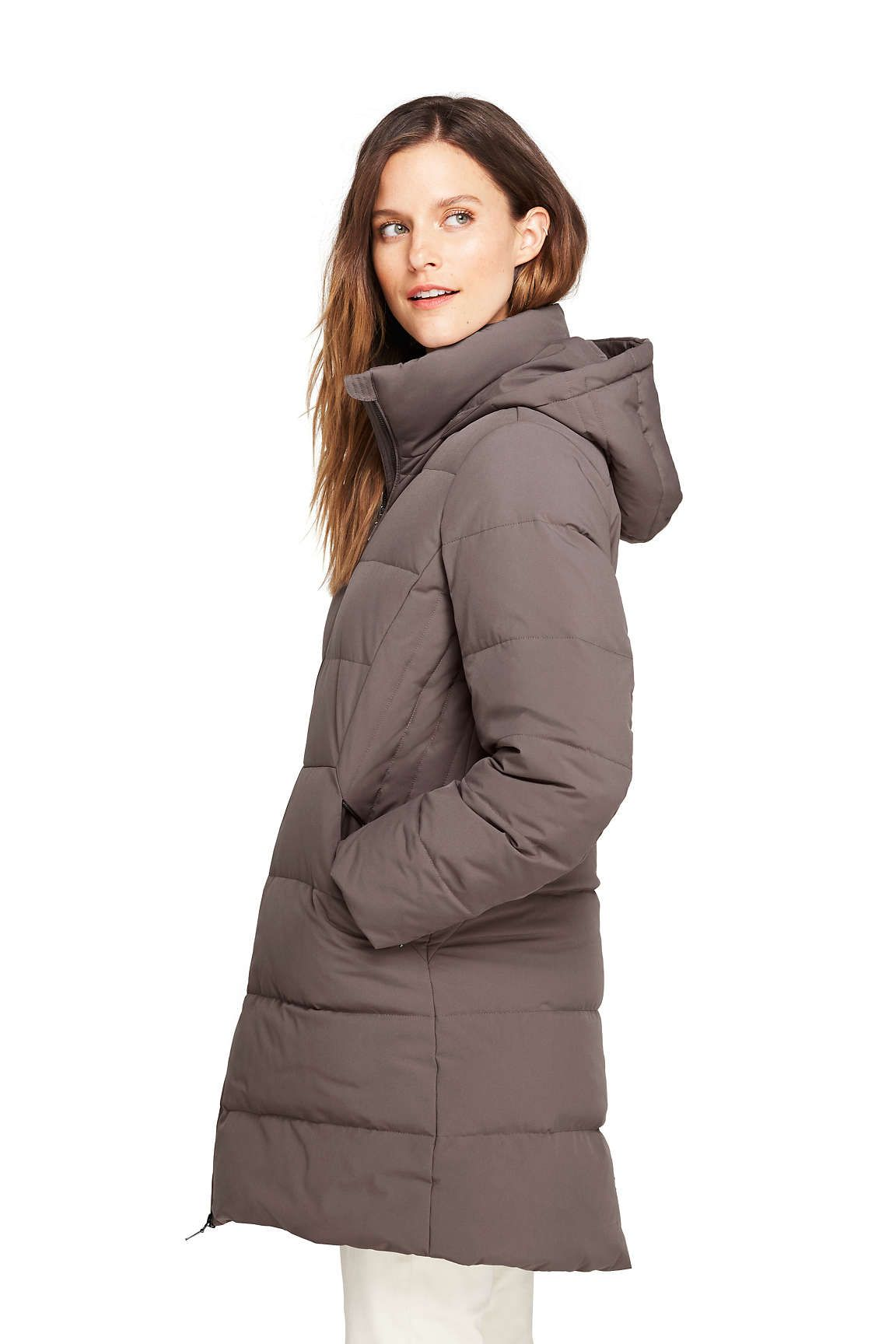 68229e92321 Women s Stretch Long Down Coat from Lands  End