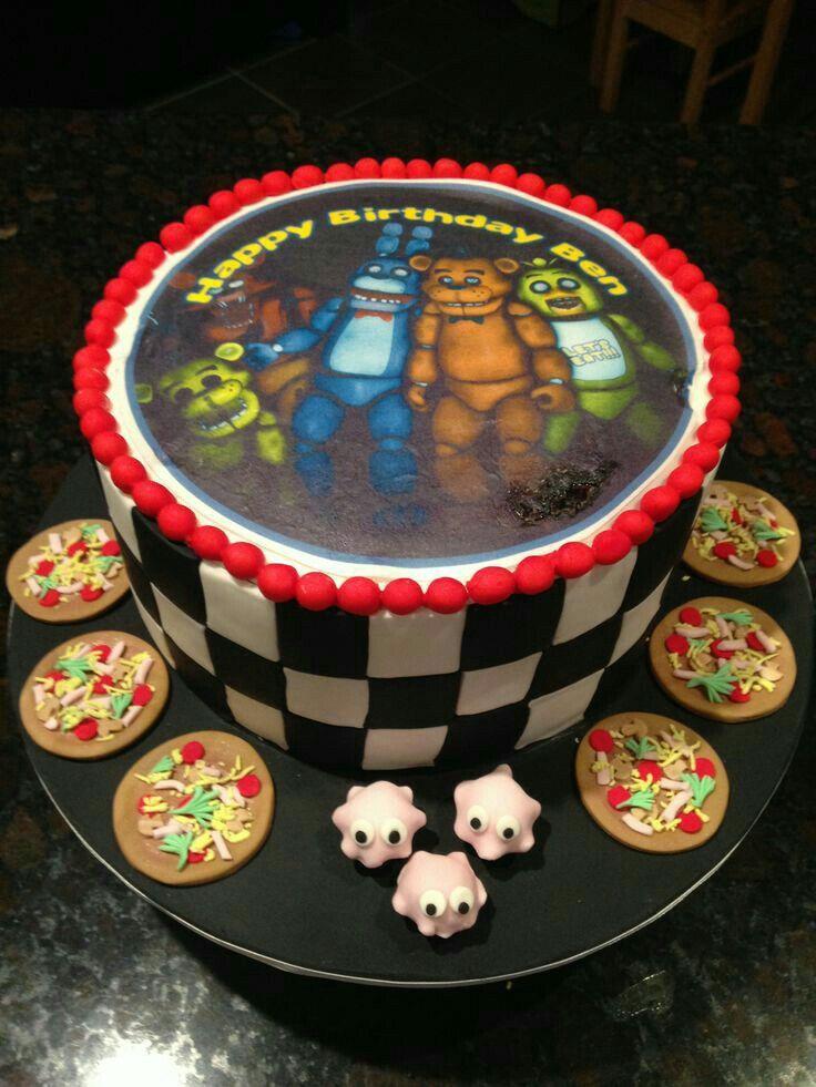 Freddy Bonnie Foxy Chica Golden Five Nights At Freddys Cake Anime Food
