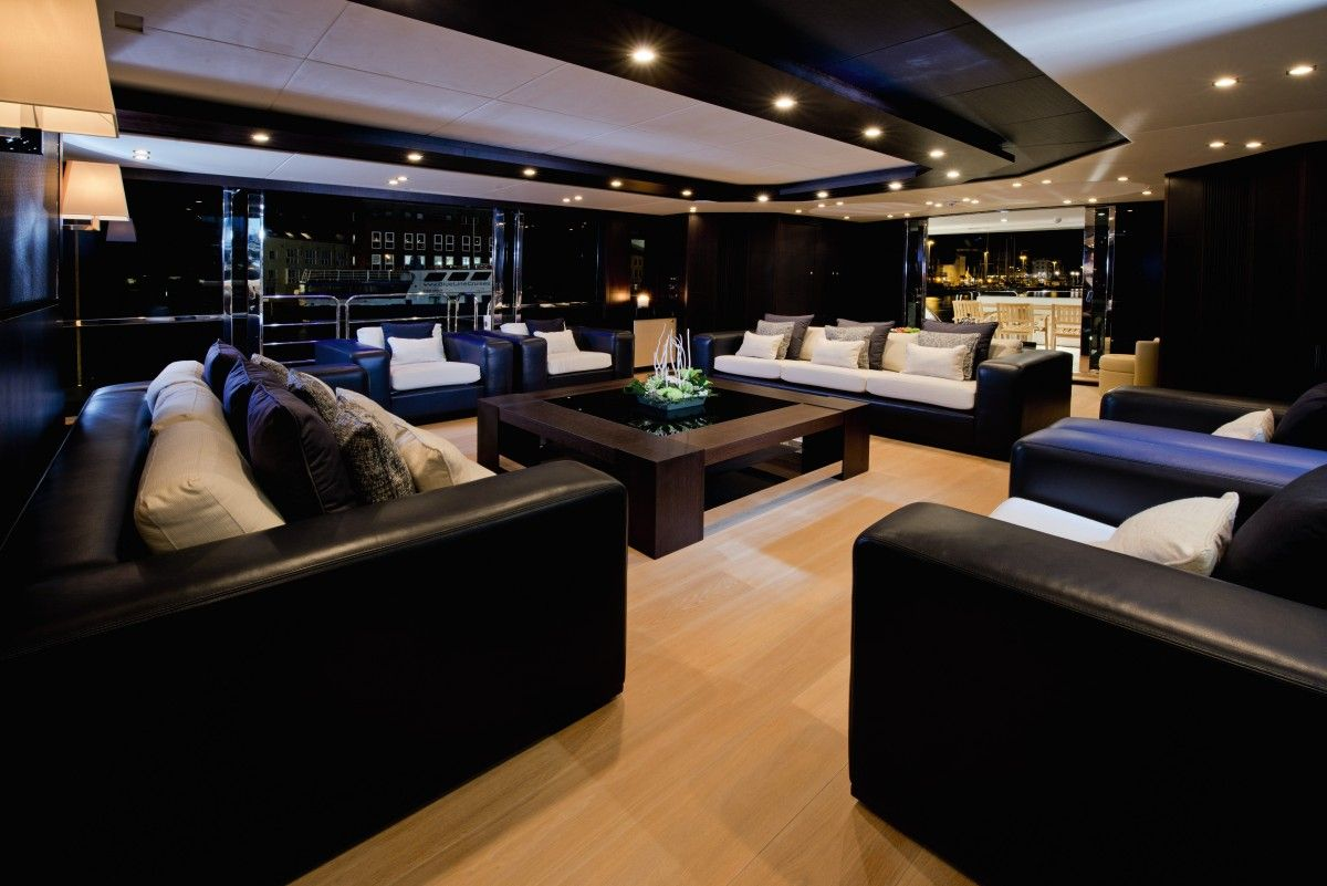 Dark interior design in a luxury yacht feel inspired www luxxu net luxurylifestyle yacht vacation travel
