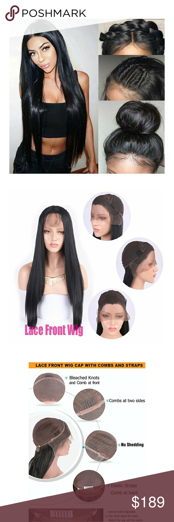 Flash Sale Beautiful Lace Front Wig Medium Cap Soft Lace Parts Back 2 3 Inches From Ear To Ear Human Hair Blend 90 Wigs Lace Front Wigs Synthetic Hair