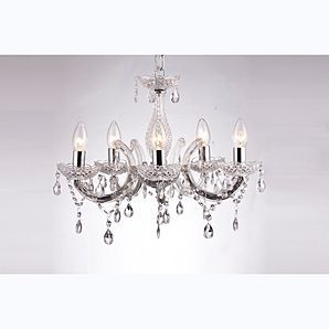Asda Marie Therese Chandelier Clear 5 Light Chandelier Light Ceiling Lights
