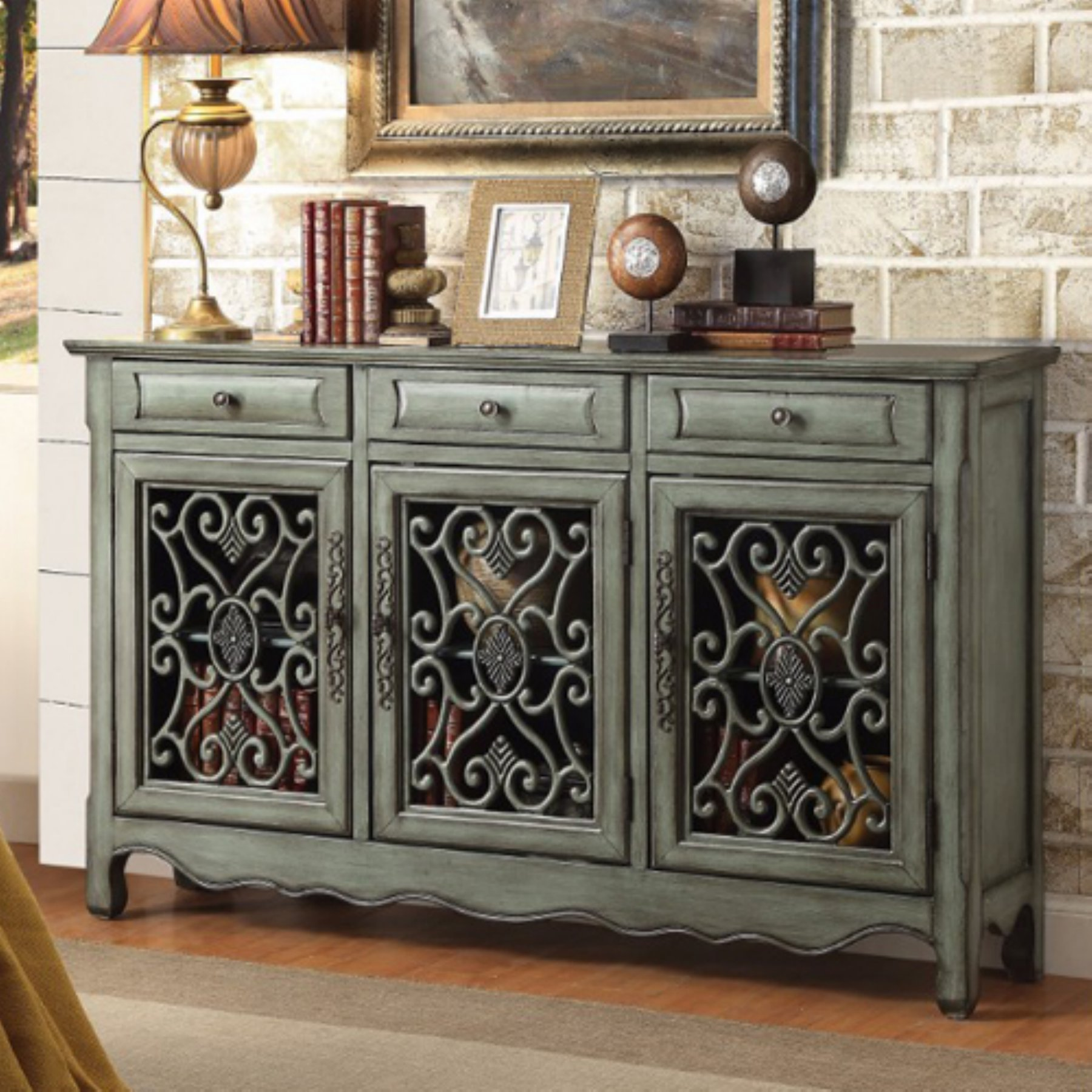 benzara traditional wooden 3 drawer accent cabinet in 2019 rh pinterest com