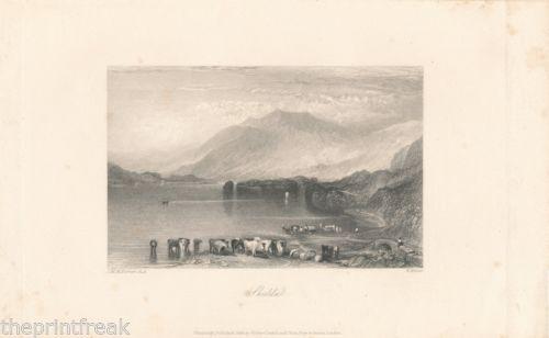 1834 ANTIQUE PRINT/ENGRAVING-JMW TURNER -SKIDDAW -THE LAKE DISTRICT   eBay