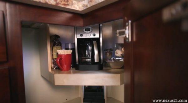 under counter coffee maker | Hidden coffee maker lift under the ...