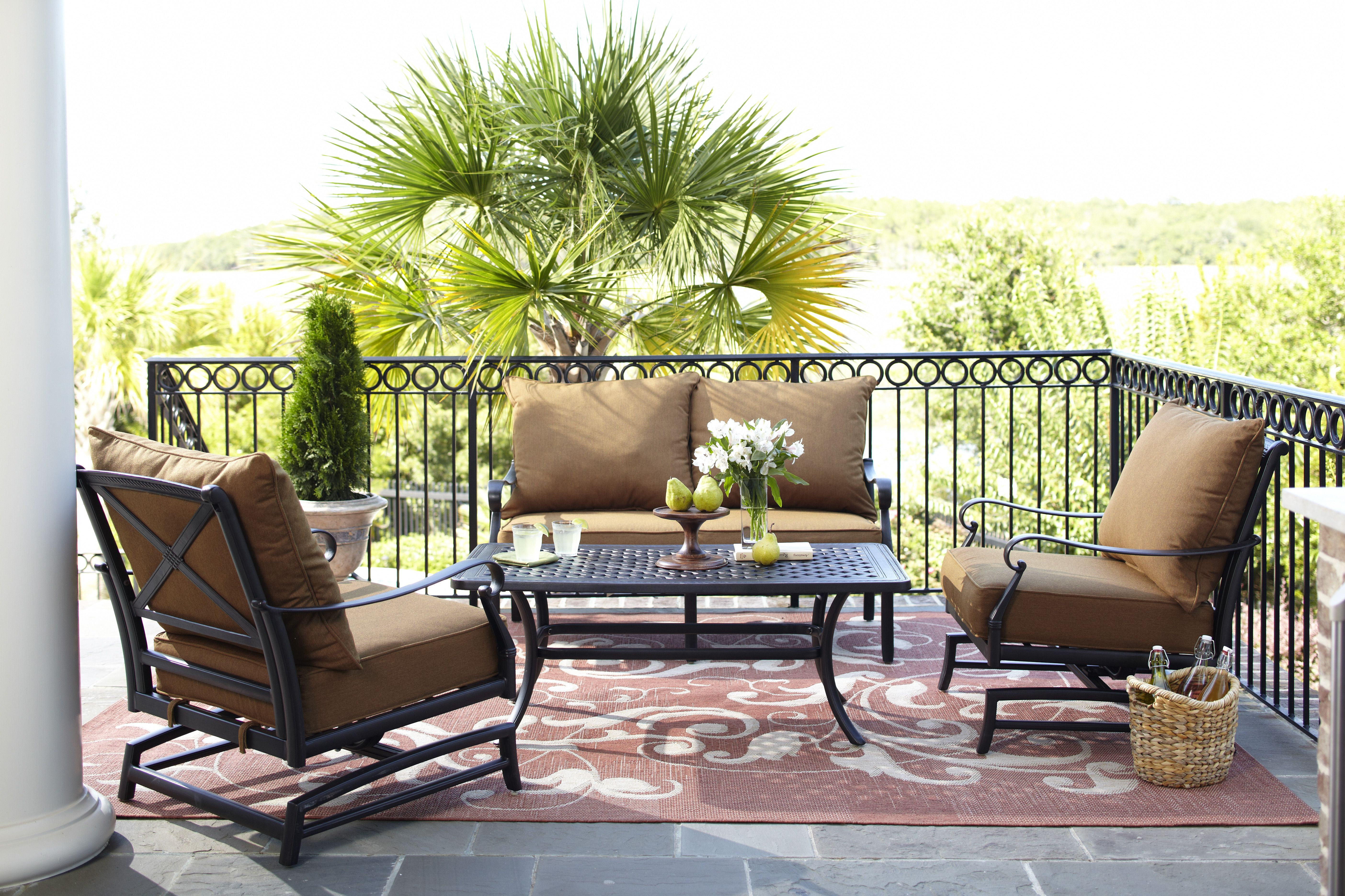 Mix and match the Whitley Place allen roth patio set to fit your
