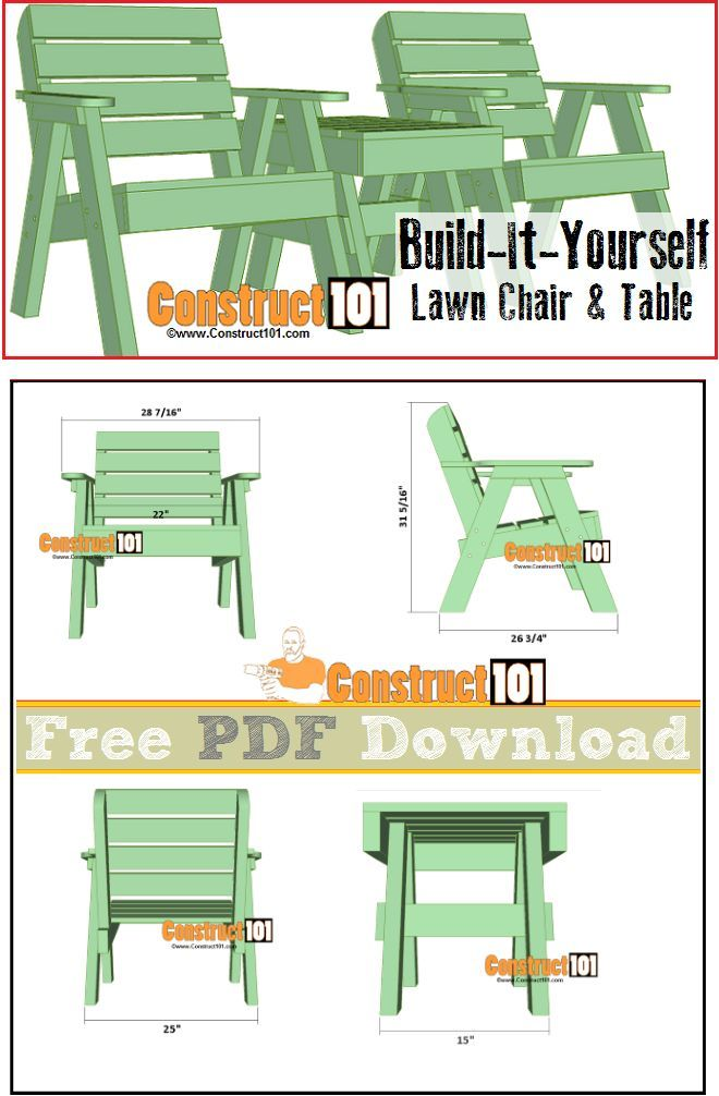 Lawn Chair Plans Pdf Download In 2018 Diy Projects Pinterest