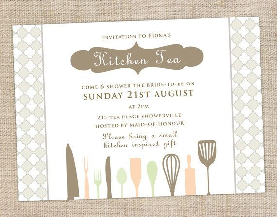kitchen tea invites ideas printable custom kitchen tea bridal shower by 20089