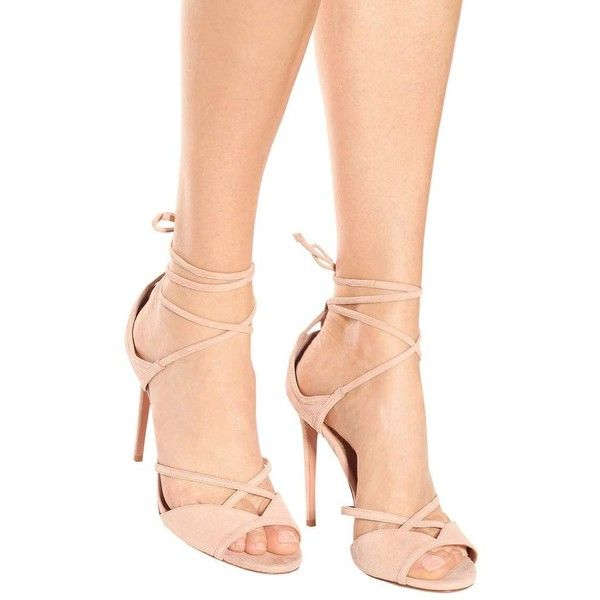 Sale Cost From China Free Shipping Nathalie 105 suede sandals Aquazzura With Mastercard For Sale 5go943u