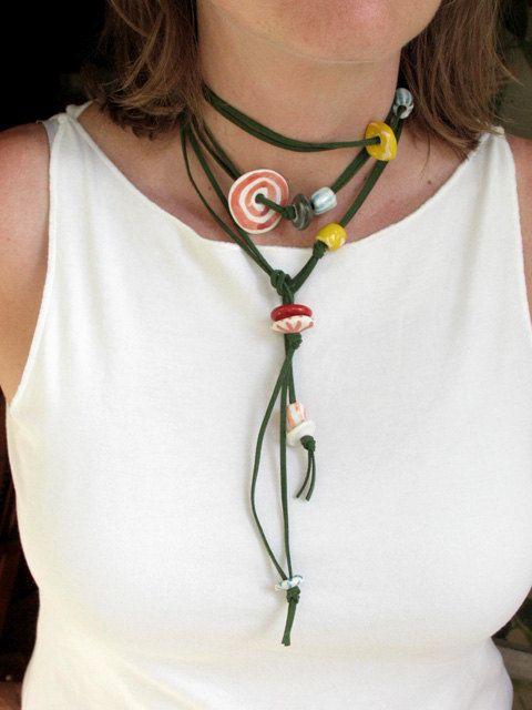 ceramic bead necklace, NiuTaller