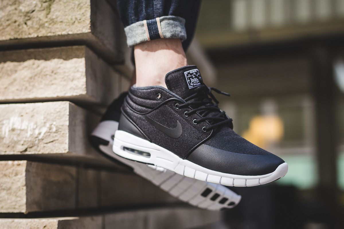Nike SB Stefan Janoski Max Mid Returns in Black/White - EU Kicks: Sneaker