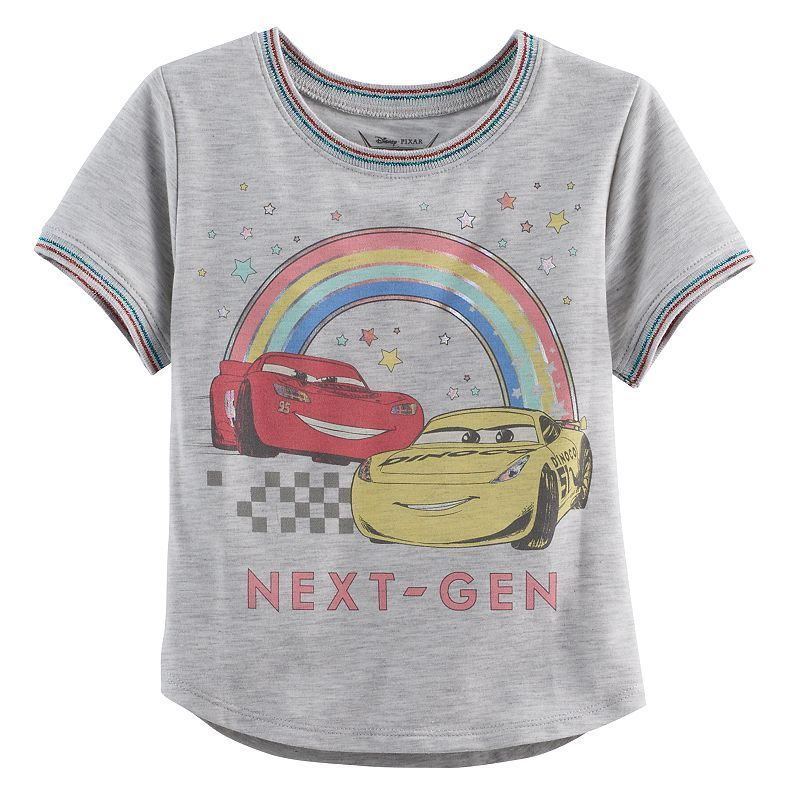 Disney   Pixar Cars 3 Lightning McQueen   Cruz Ramirez Toddler Girl Foiled  Graphic Tee 88b0789fe
