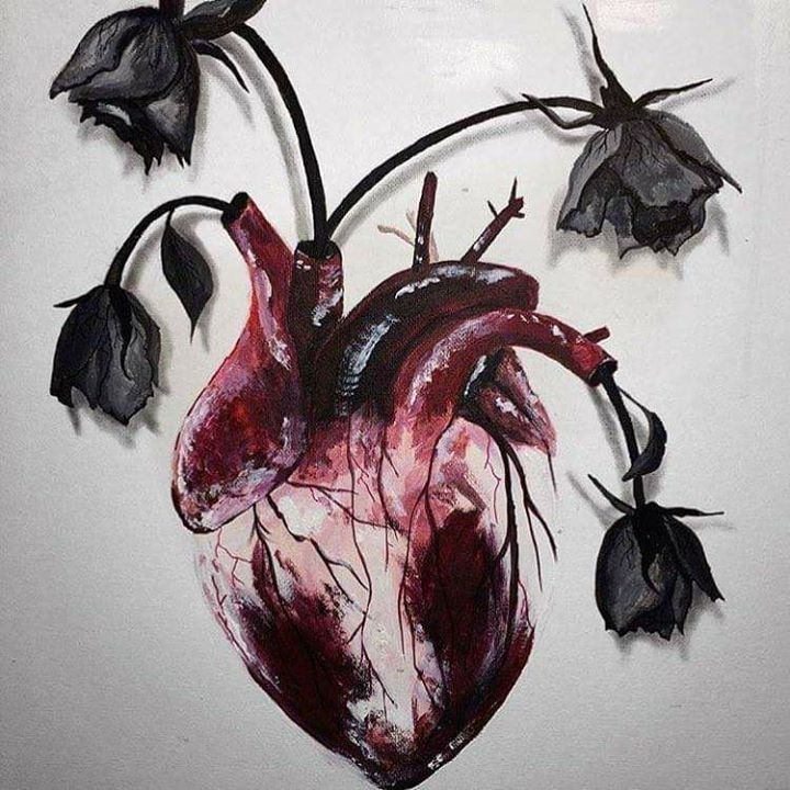 Art is a way of survival, heart with flowers   Art   Pinterest ...