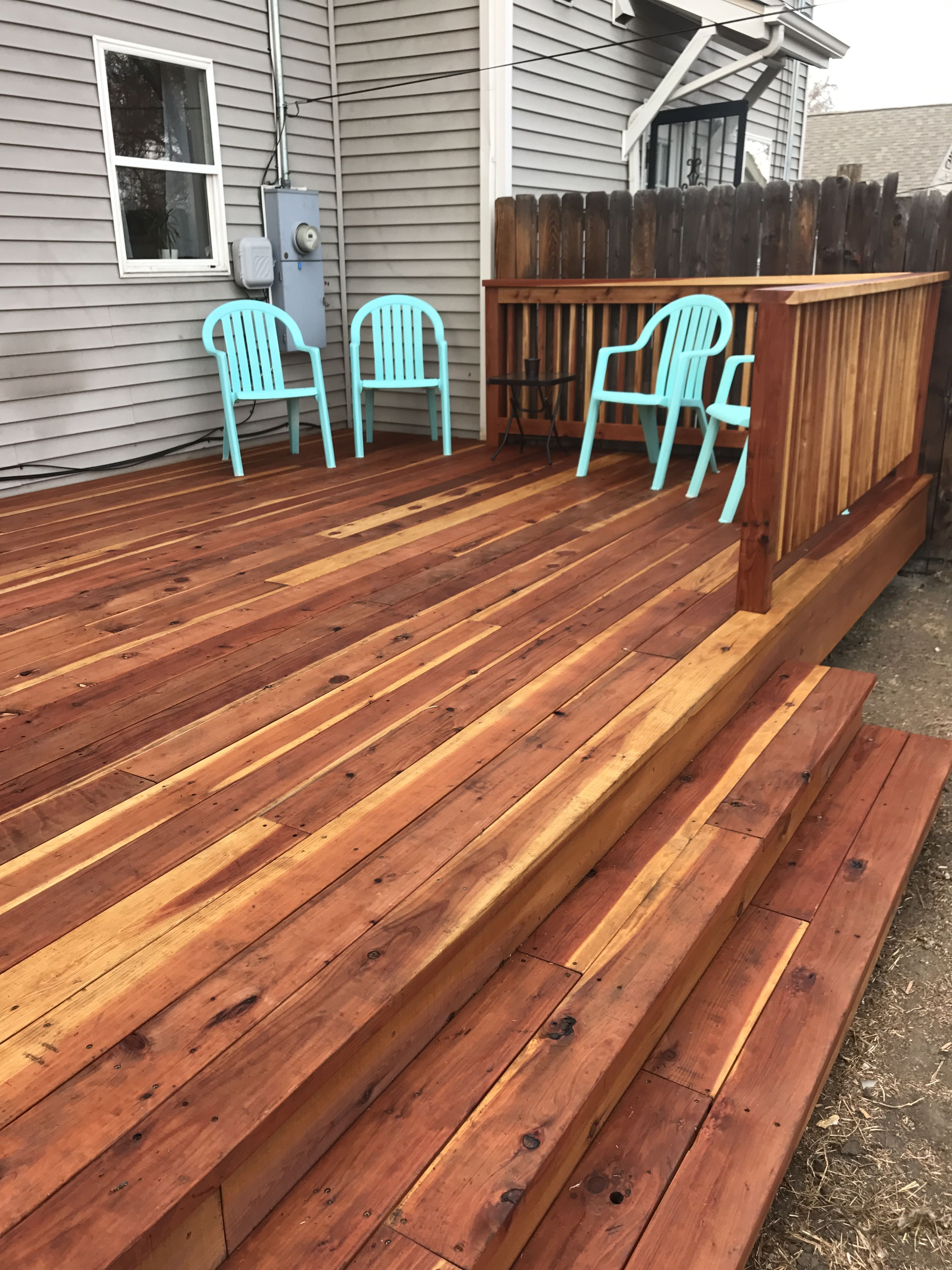 Con Common Redwood Deck Stained In Superdeck Valley Staining Deck Redwood Decking Redwood Deck Stain