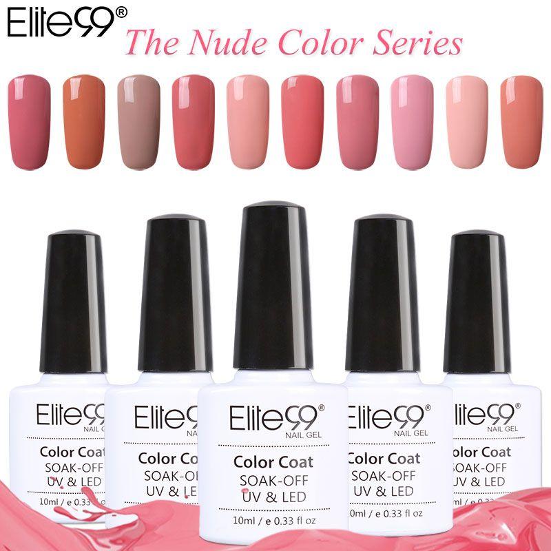 Elite99 Gel Polish Varnish UV LED Gorgeous Nude Color Series UV Gel ...
