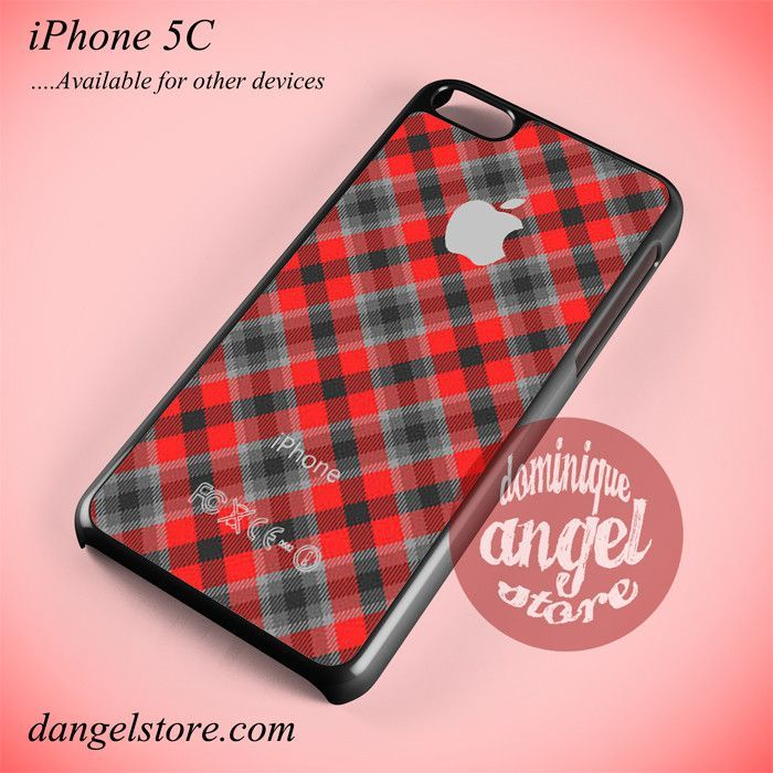 Red Plaid Apple Phone case for iPhone 5C and another iPhone devices