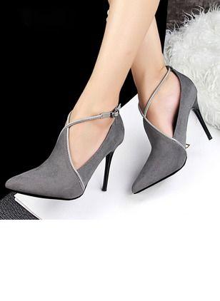 7b30345e68baa Chaussures Femmes Escarpins Simili-cuir Bout fermé Talon aiguille -  Floryday   floryday.com