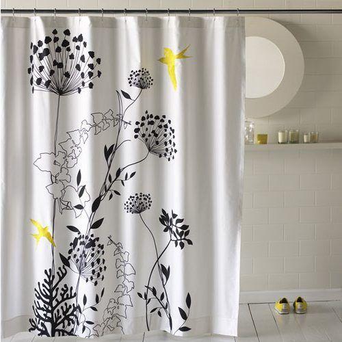 Black And White Flower Shower Curtain Shower Curtain Decor