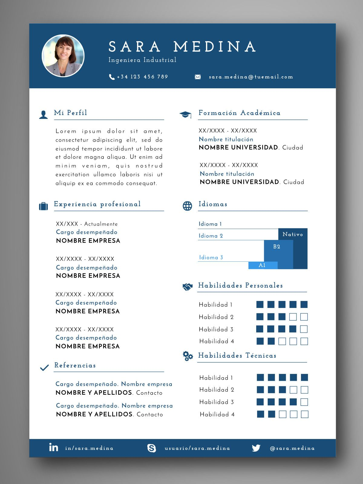 curriculum_montreal | CURRICULUM VITAE | Pinterest | Plantilla cv ...