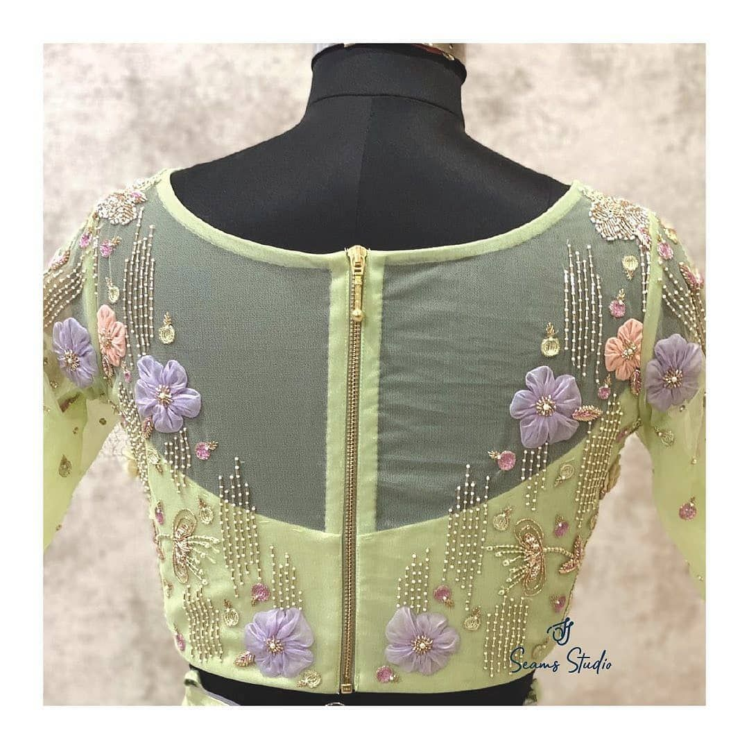 Net Blouse In 2020 Netted Blouse Designs Blouse Designs Catalogue Blouse Designs Indian