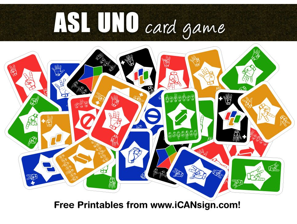 ASL UNO card game  ASL Games and ASL Activities from www