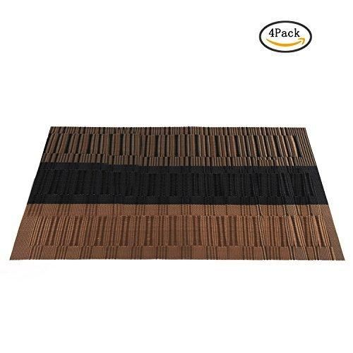 pvc placemats, heat-resistant placemats for home kitchen, washable