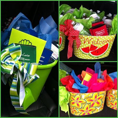 Summer Baskets filled with Goodies for referring offices ...