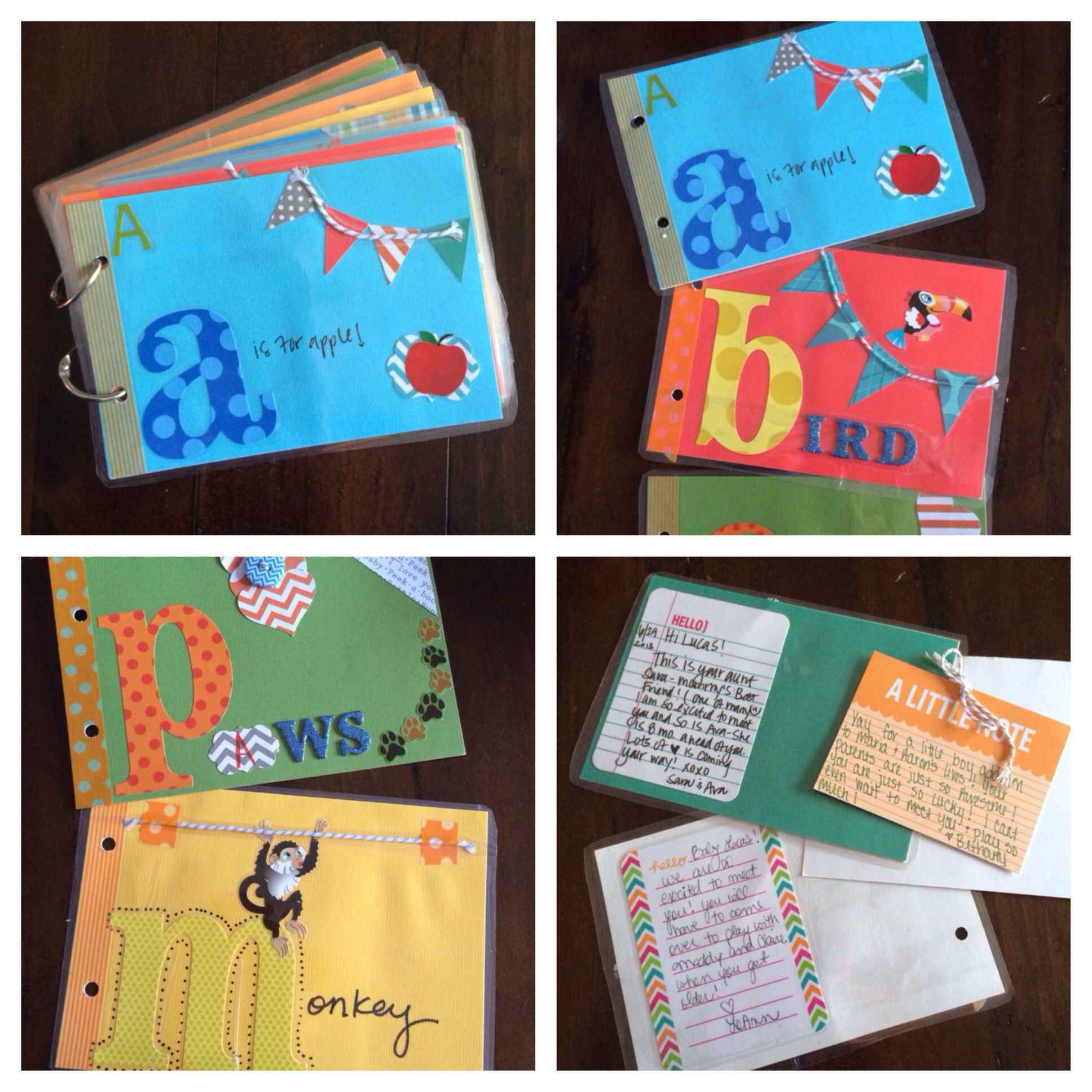 Abc scrapbook ideas list - Baby Shower Little Kid Birthday Idea Diy Abc Book Have All Guests Decorate A Small Scrapbook Page With Letters Or Numbers And Write A Note On The Back