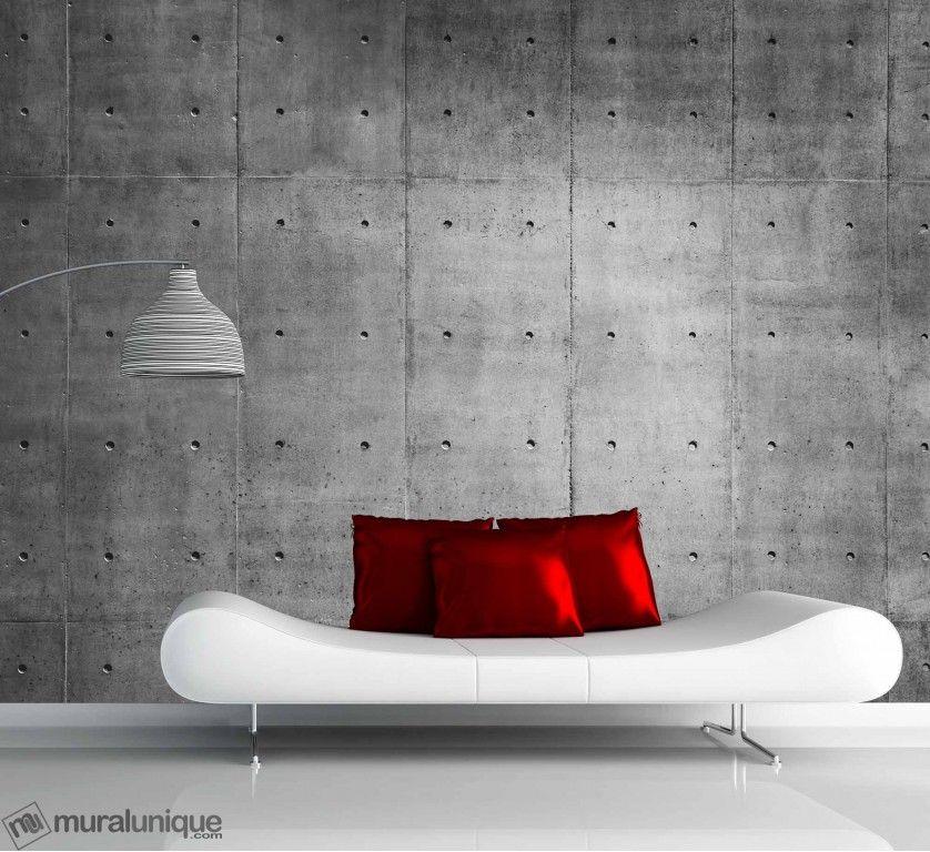 mur de b ton 10 5 39 x 8 39 3 20m x 2 44m mural unique tapisserie pinterest beton mur et. Black Bedroom Furniture Sets. Home Design Ideas