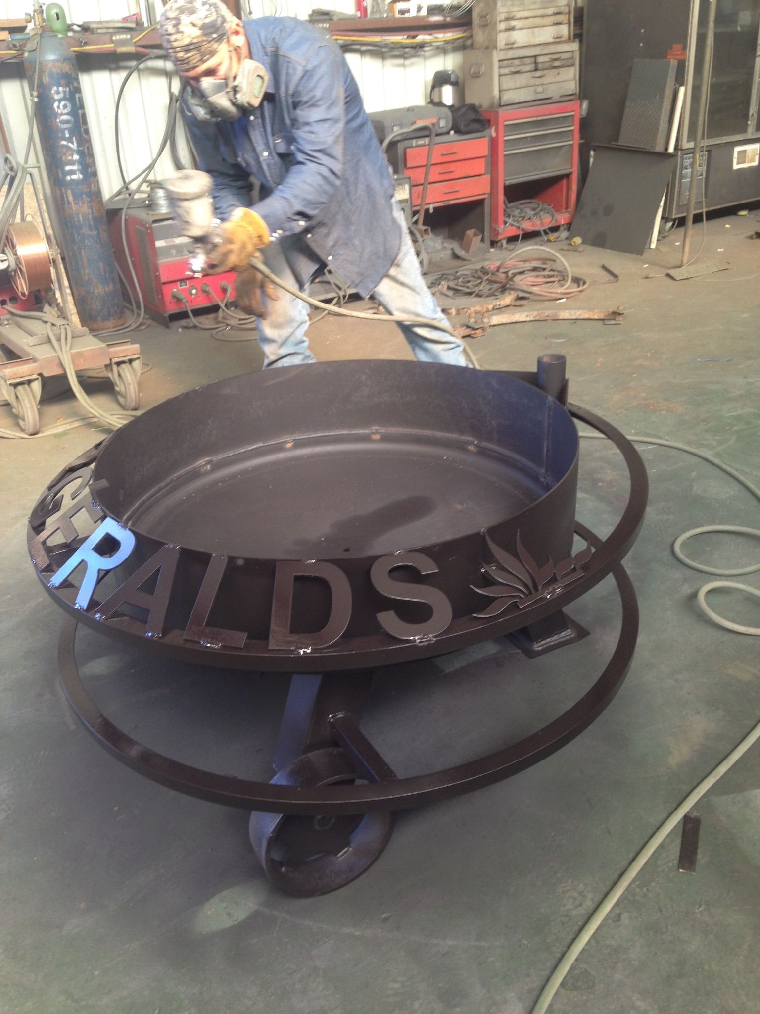 Custom fire pits fire pits custom metal signs hull welding fuel tanks