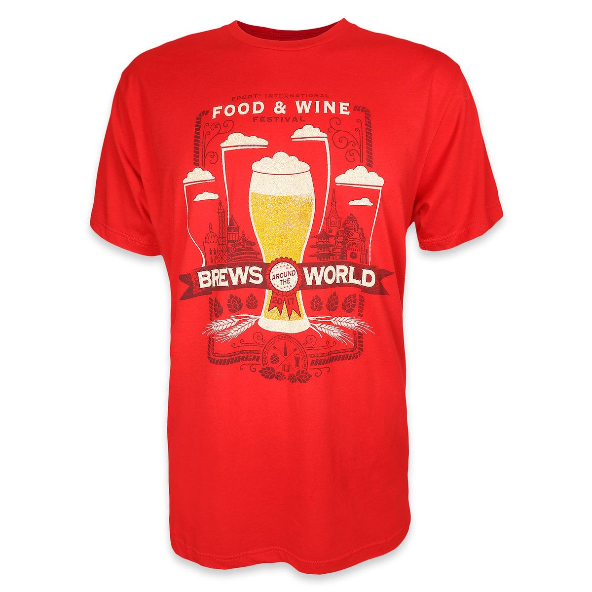 Epcot International Food Wine Festival Brews Around The World 2017 T Shirt For Men Adulting Shirts Mens Tshirts Shirts For Teens