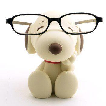 Snoopy Eyeglasses Sunglasses Stand Beige Brown Sepia Figure Cute Kawaii Japan