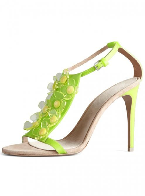 Light Green Sexy Fashion Floral Fish Head High-heeled Sandals YSY165   Natalie Bonilla   699eaa686c34