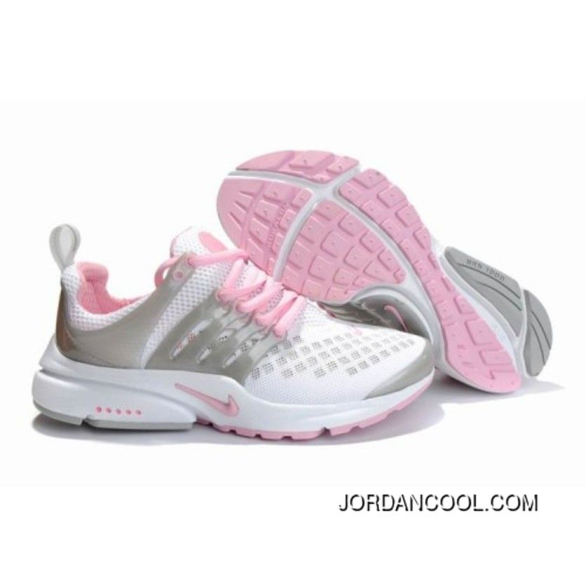 Womens Nike Air Presto Shoes White Pink Grey For Sale in