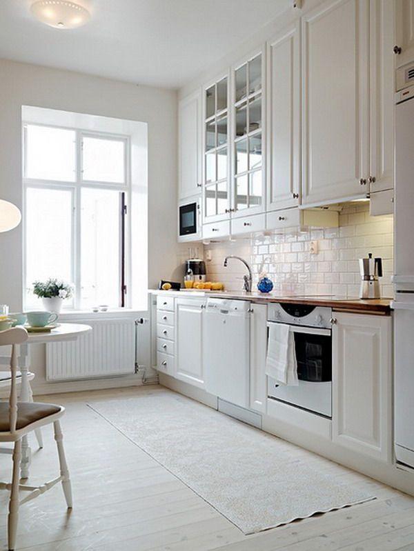 Cocinas Blancas Y Negras Decoracion De Cocinas Elegantes - Cocinas-blancas-y-negras