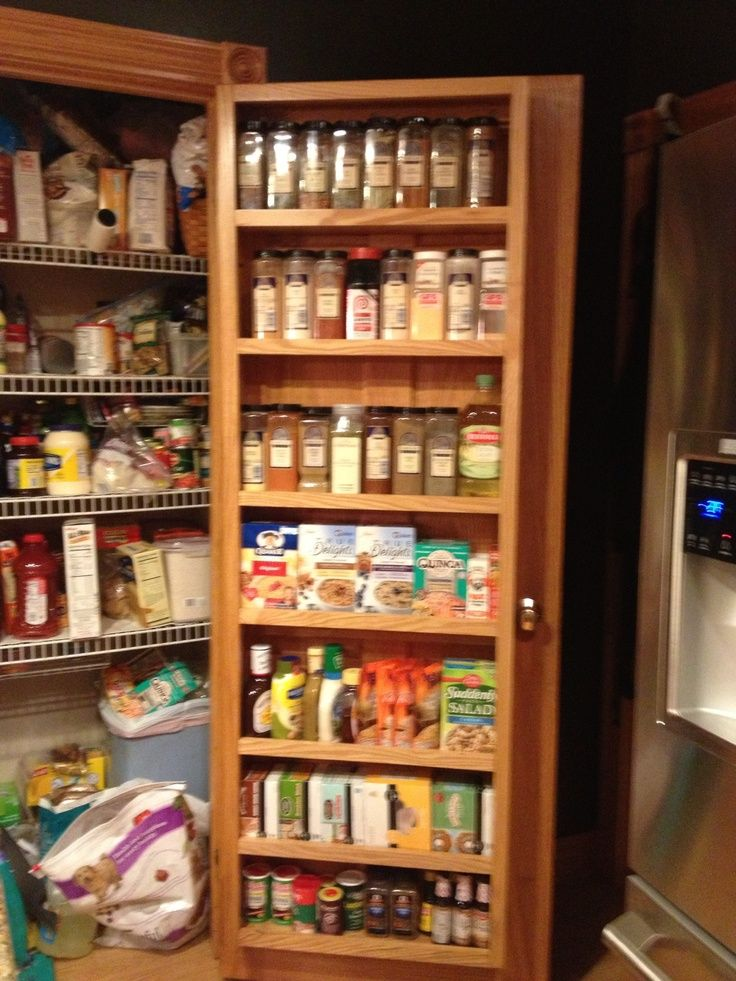 spice rack inside pantry door ~ this one is deep enough for the ...
