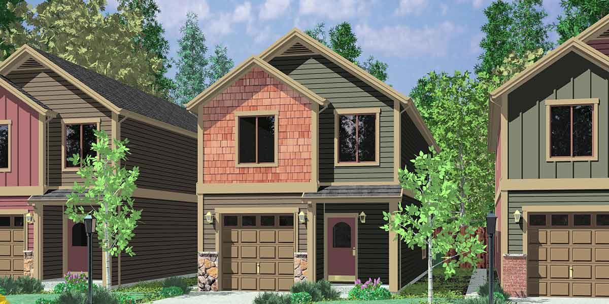 Plan 8133LB: Compact Townhouse