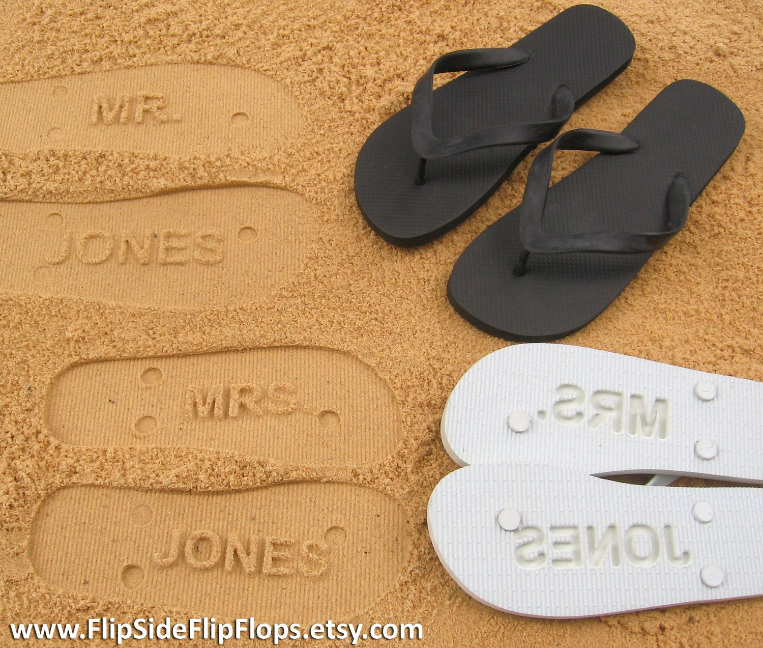 f85e66764 Custom Sand Imprint Wedding and Bridal Flip Flops. Personalize With Your  Design. No Minimum Order Quantity..  19.95