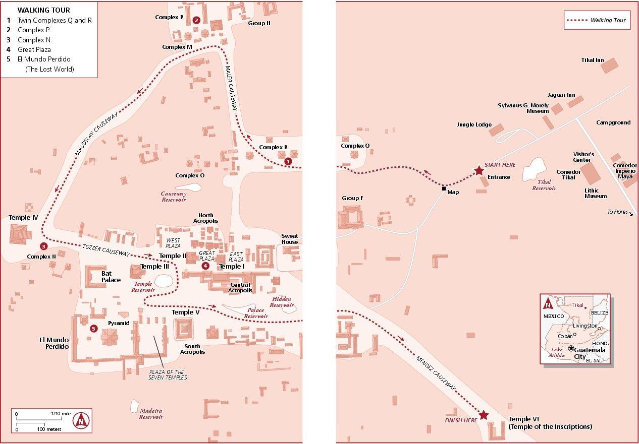 tikal map travel plans 2014 pinterest tikal