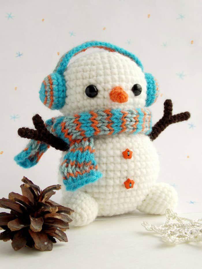 Free crochet snowman pattern   Schneemann Muster, Häkeln Schneemann ...
