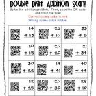 """This is a freebie out of my """"Double Digit QR Code Fun!"""" product.  This activity allows kids to solve double-digit addition problems without regroup..."""