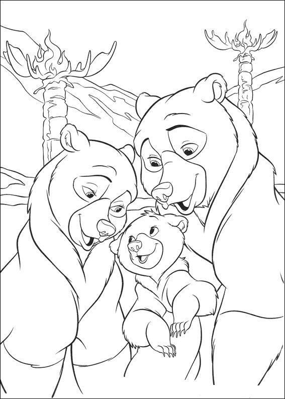 kleurplaat Brother bear 2 - Brother bear 2 | Disney Brother Bear ...