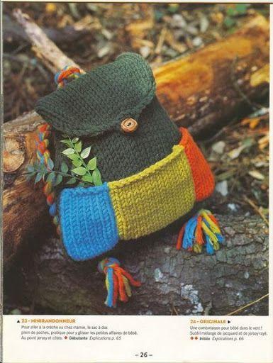 sac enfant tricot